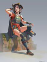 Wandering samurai by Naranb