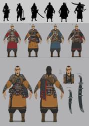Warrior concept sheet by Naranb