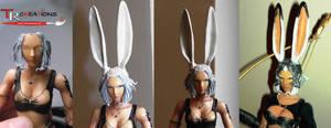 Evolution of Final Fantasy XII Fran Play Arts by zelu1984