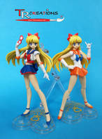 Sailor V and Sailor Venus S.H. Figuarts by zelu1984