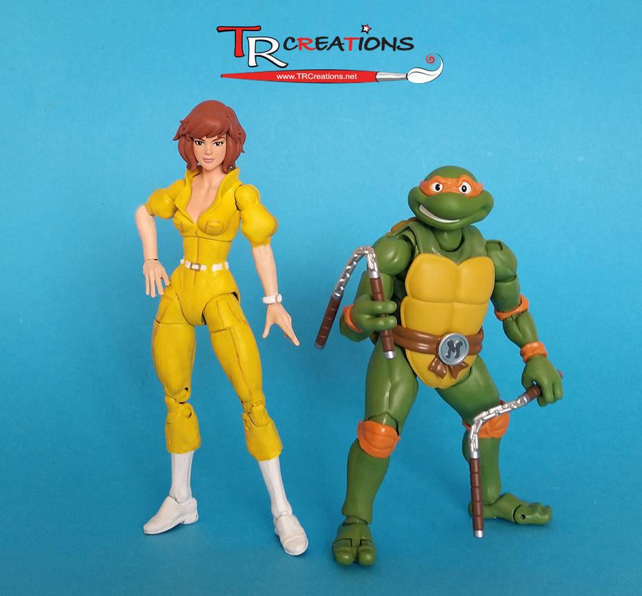 Turtles Figuarts - April O'Neil custom figure by zelu1984