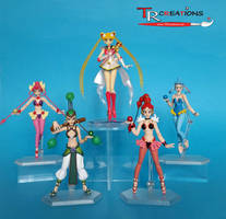 Sailor Moon custom Amazon Quartet by zelu1984