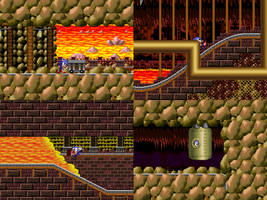 Sonic 4 - Episode ME - Volcanic Mines Zone Mock-Up by MrLevRocks