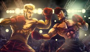 Takamura vs Drago by El-Andyjack