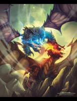 Dragon duel by El-Andyjack