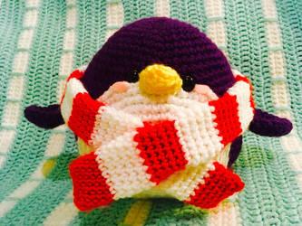 Purple crocheted Penguin  by Kimi133