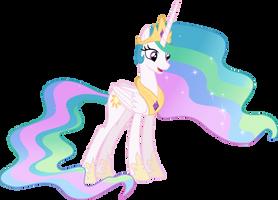 Princess Celestia talking by nano23823