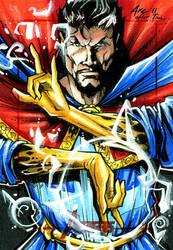 Dr. Strange for the Avengers trading card set by Axebone
