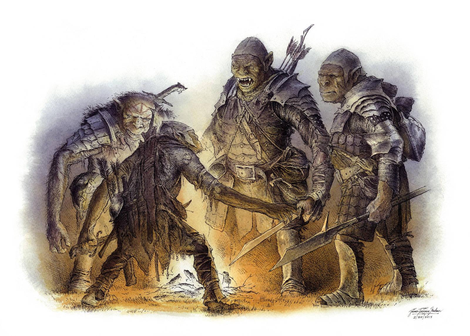 Orcs Debate, Color by TurnerMohan