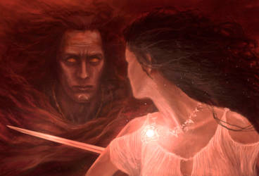 Maedhros and Elwing by TurnerMohan