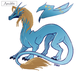 Amalthi dragon Shokox base by yorukami