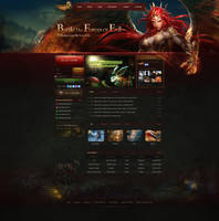 league of angels website by bingzhang09