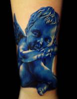 Blue angel tattoo by hatefulss