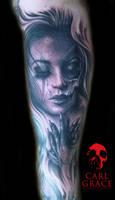 broken girl tattoo by hatefulss