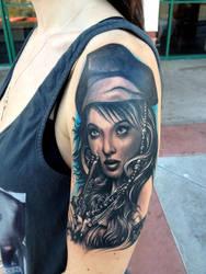 pirate tattoo by hatefulss