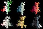 mystery plush creatures-(1/6)OPEN by Bai-ZeWarrior