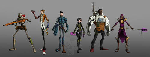 Borderlands characters by oz-of-the-land