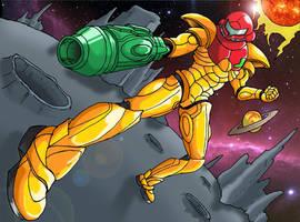 Power Suit Samus by HoratioGiovanni