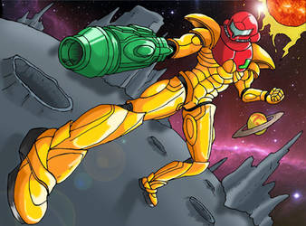 Power Suit Samus by HoratioGiovanni