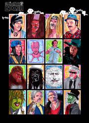 Mighty Boosh Sketch Cards by febbik