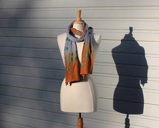Grey to Orange Jellyfish Scarf by febbik