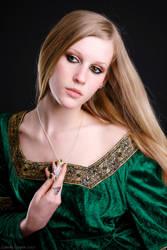 Girl in the Green Dress by insanedoodler