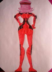 Akiza Fudo (Timeskip version, D-runner Suit, Back) by BenorianHardback26