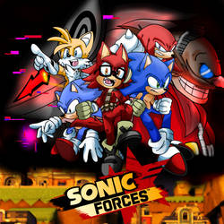 -Sonic Forces First Anniversary- by Arrzee-Art