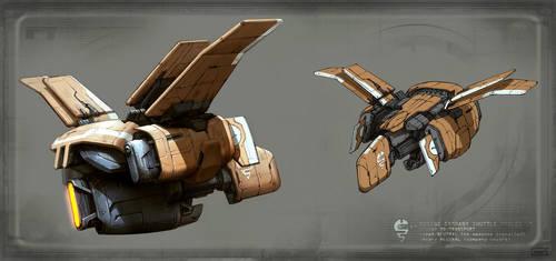 mining ship concept by rawwad