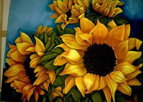 Sunflower by paperkangaroo