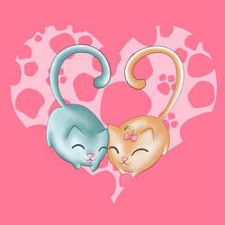Valentine Kitties by BBShadowCat