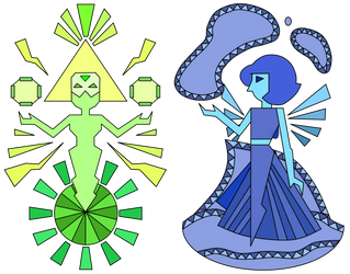 Peridot and Lapis Murals by Aonixia