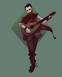 Rannick the human bard - commission by Animcatic