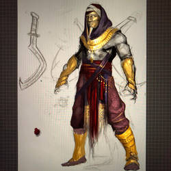 Ancient Egyptian Warrior by ThreeEyedFox