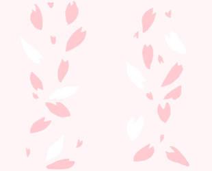 Seamless Sakura Petal Pattern by Senshistockart