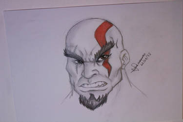 Drawing Kratos - God of War by vcdesenhos