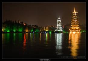 Night Pagodas by Vidguy10