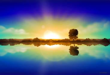 Inkscape Sunrise by Chrisdesign