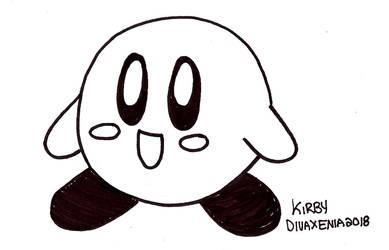 Inktober 9: Kirby by DivaXenia