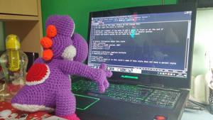 Geeky Purple Yoshi wants to code too ! by Ishimaru-Chiaki