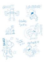 [Doodle] Unlucky Yoshi needs hugs ! by Ishimaru-Chiaki
