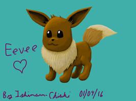 Cute lil' Eevee ! by Ishimaru-Chiaki
