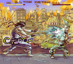 RYU HIGH SCORE :vs GUILE: COLR by TheGreyNinja