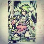 Inktober day 30 - Swamp Knight Pirate Lady by TheGreyNinja