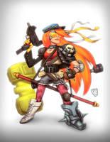 capcom fighting tribute girl by TheGreyNinja