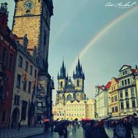 Rainbow in Prague II by IsacGoulart