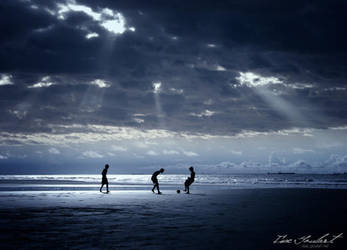 Football on the Beach by IsacGoulart