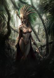 Aztec Warrior by JordiGart