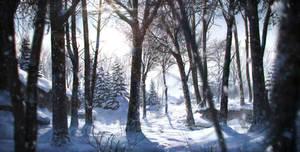 Snowy landscape by JordiGart
