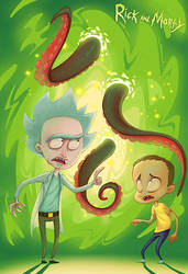 Rick and Morty by NickNP